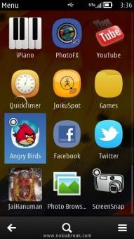 Nokia Icon Menu