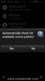 Automatically check for available access points