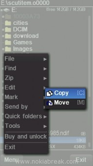 Copy file on X-plore