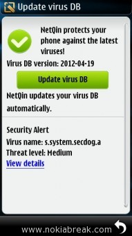 NetQin Virus database update