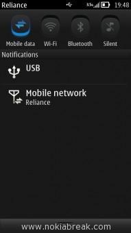 Pull Down Taskbar - Nokia Belle
