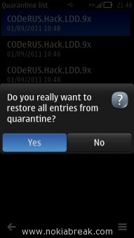 Quarantine Confirm