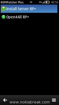 RomPatcher Plus 3.1 on Nokia Belle