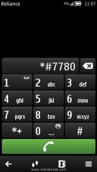 Soft Reset Nokia N8