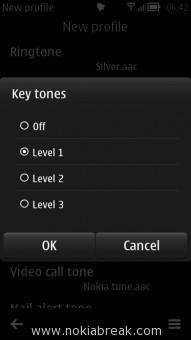 Key tone