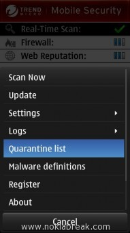 Quarantine list