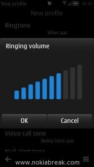 Ringing Volume