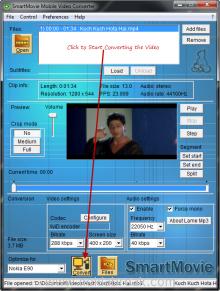 Start Convert - SmartMovie