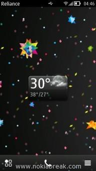 Transparent Weather Widget