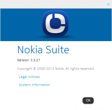 Nokia Suite 3.5.21 About
