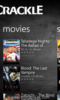 Crackle for Windows Phone