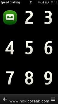 Nokia N8 Speed Dialling