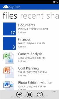 SkyDrive for Windows Phone