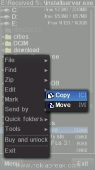 X-plore copy installserver.exe
