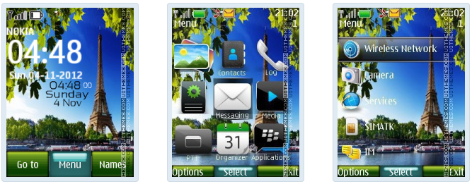 France Paris Digital Clock Theme nokia c3-00