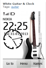 http://www.onsmartphone.com/download-white-guitar-clock-119805#d